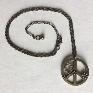 Peace sign necklace 125